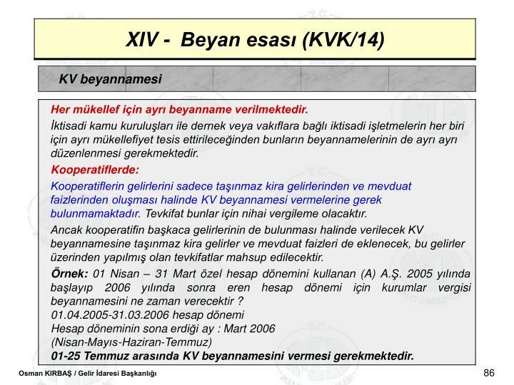 KV beyannamesi