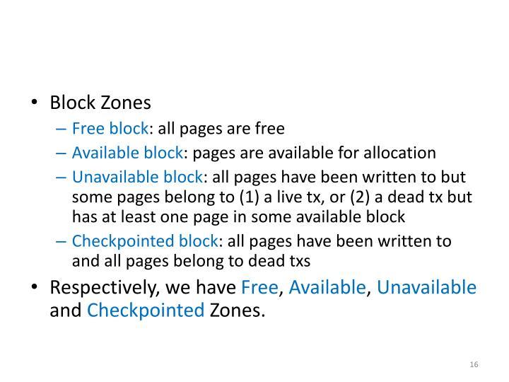 Block Zones