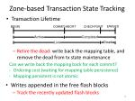 zone based transaction state tracking