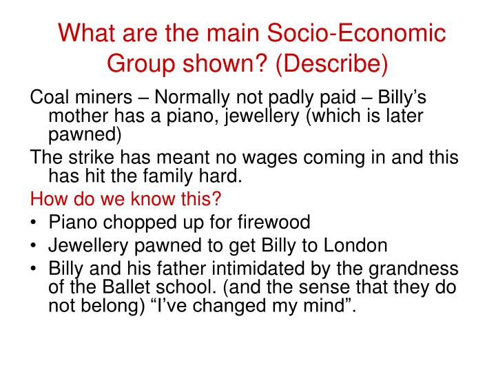 What are the main Socio-Economic Group shown? (Describe)