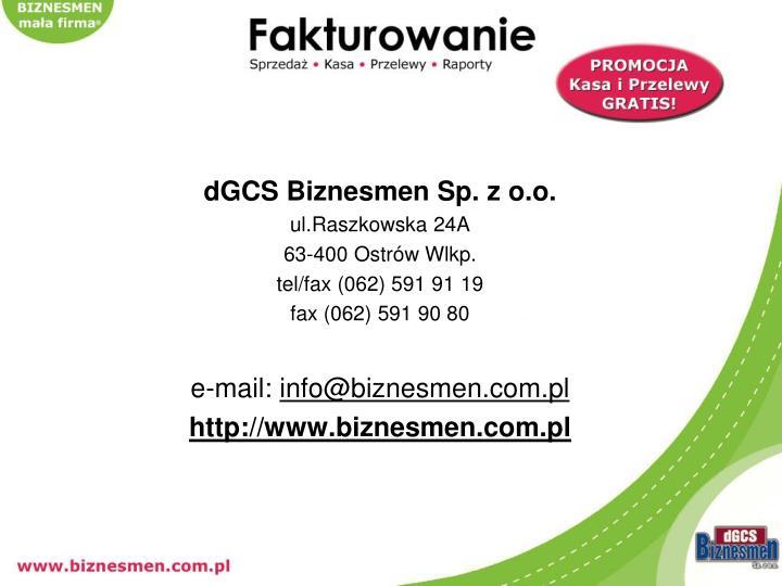 dGCS Biznesmen Sp. z o.o.