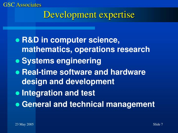 Development expertise