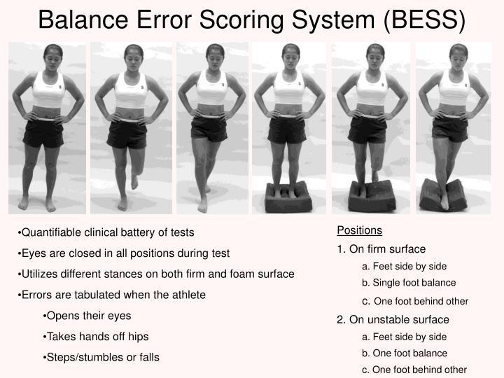 Balance Error Scoring System (BESS)