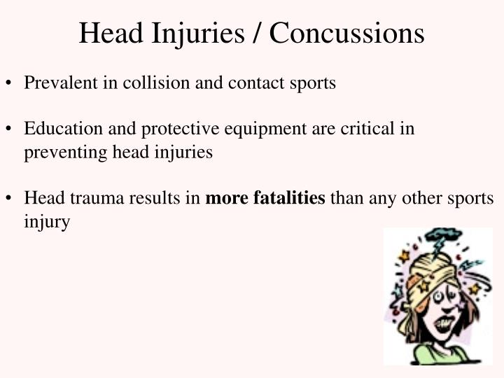 Head injuries concussions