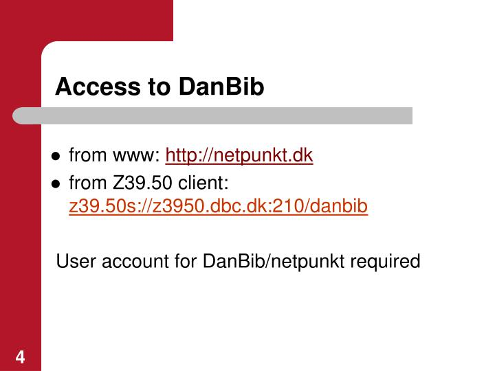 Access to DanBib