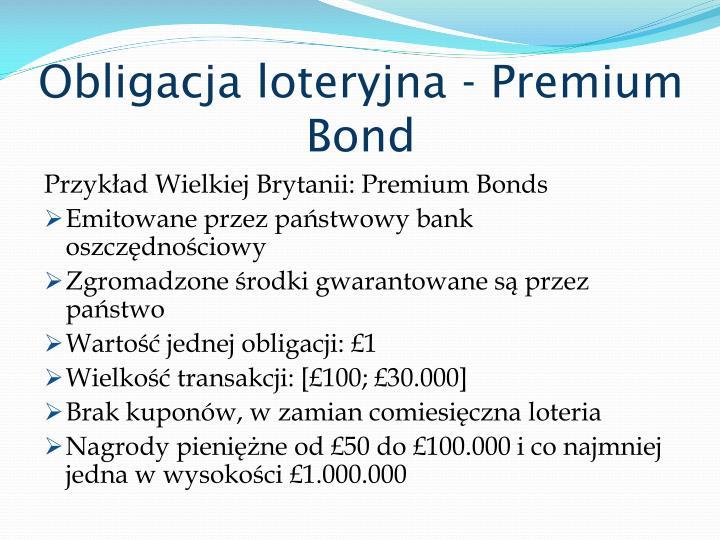 Obligacja loteryjna - Premium Bond