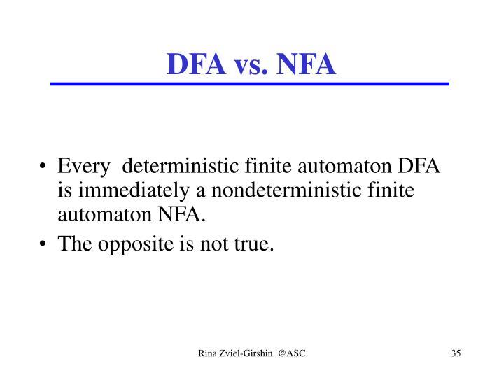 DFA vs. NFA