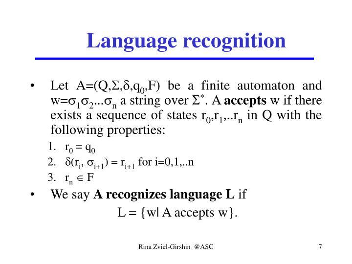 Language recognition