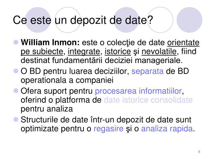 Ce este un depozit de date?