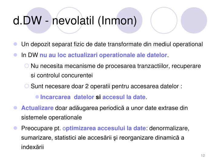 d.DW - nevolatil (Inmon)