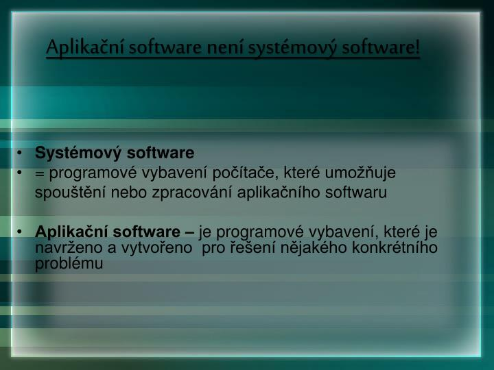 Aplika n software nen syst mov software