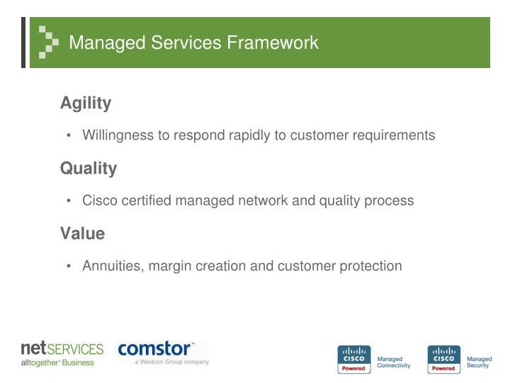 Managed Services Framework