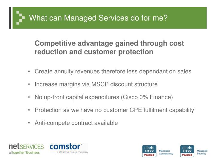 What can Managed Services do for me?