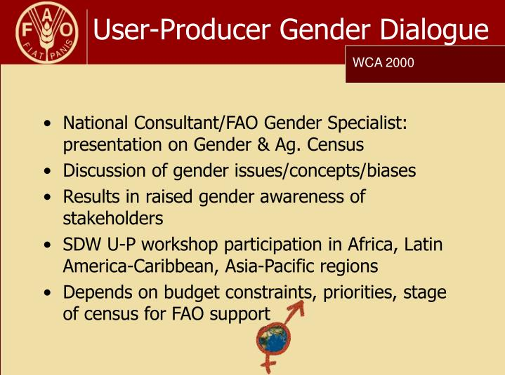 User-Producer Gender Dialogue