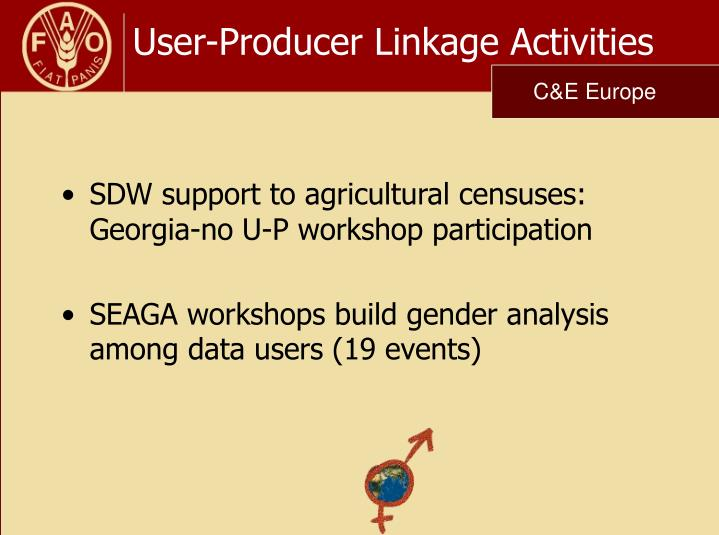 User-Producer Linkage Activities