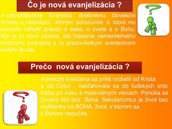 Čo je nová evanjelizácia ?