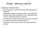 design memory and cpu1