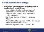 swim acquisition strategy