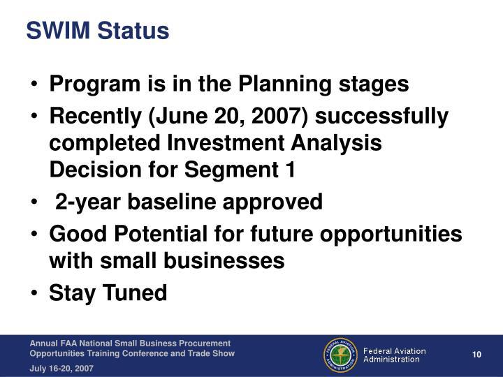 SWIM Status