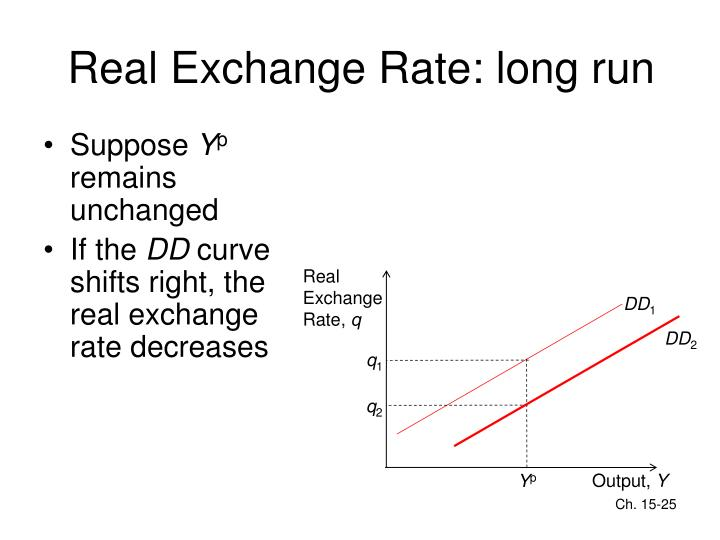Real Exchange Rate: long run