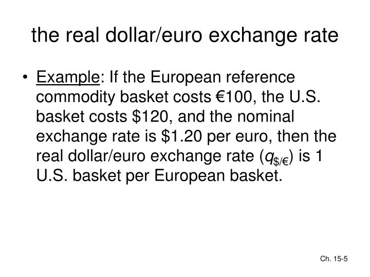 the real dollar/euro exchange rate