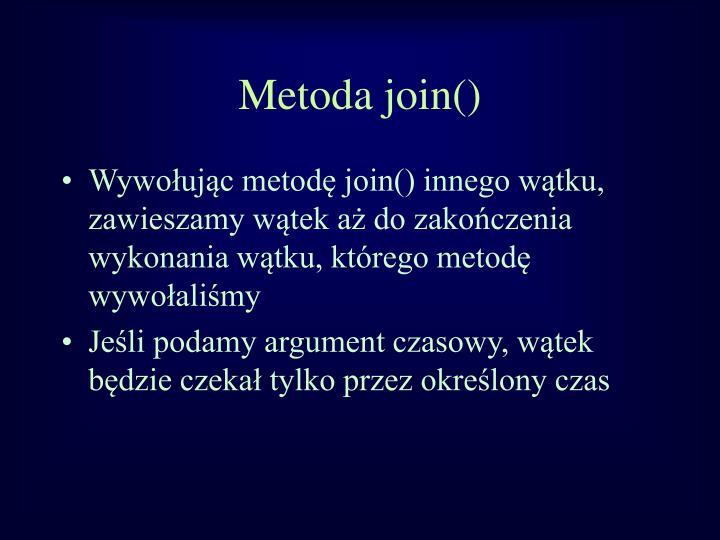 Metoda join()