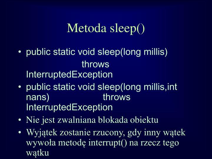 Metoda sleep()