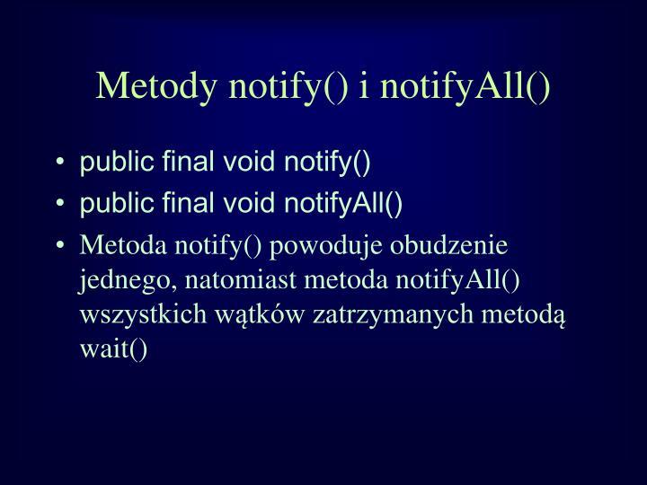 Metody notify() i notifyAll()
