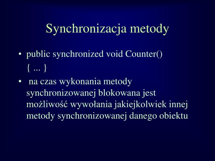 Synchronizacja metody