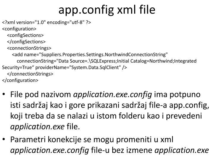 app.config xml file