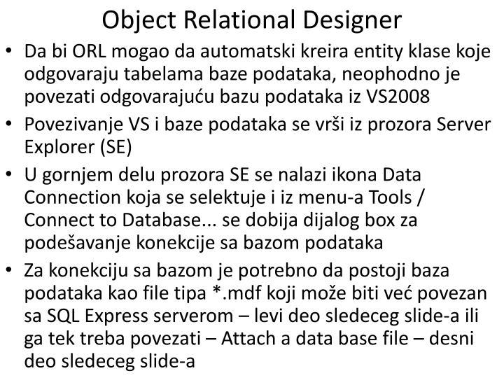 Object Relational Designer