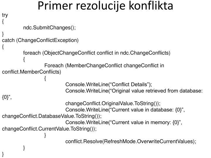 Primer rezolucije konflikta