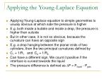 applying the young laplace equation