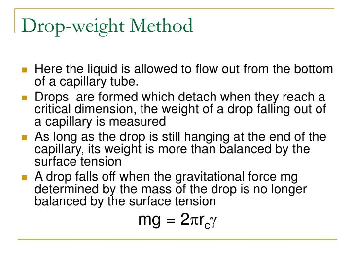 Drop-weight Method