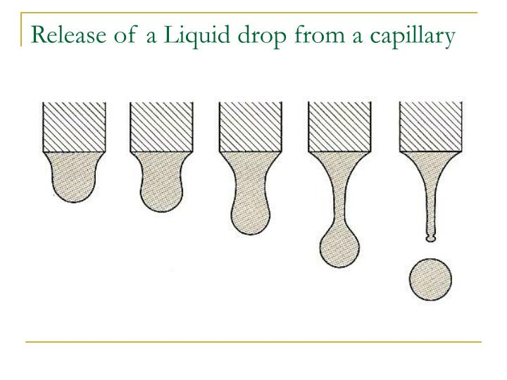 Release of a Liquid drop from a capillary