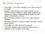 the kelvin equation