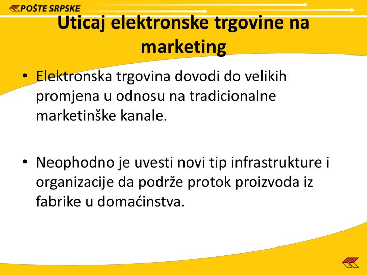 Uticaj elektronske trgovine na marketing