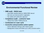environmental functional review