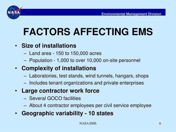 FACTORS AFFECTING EMS