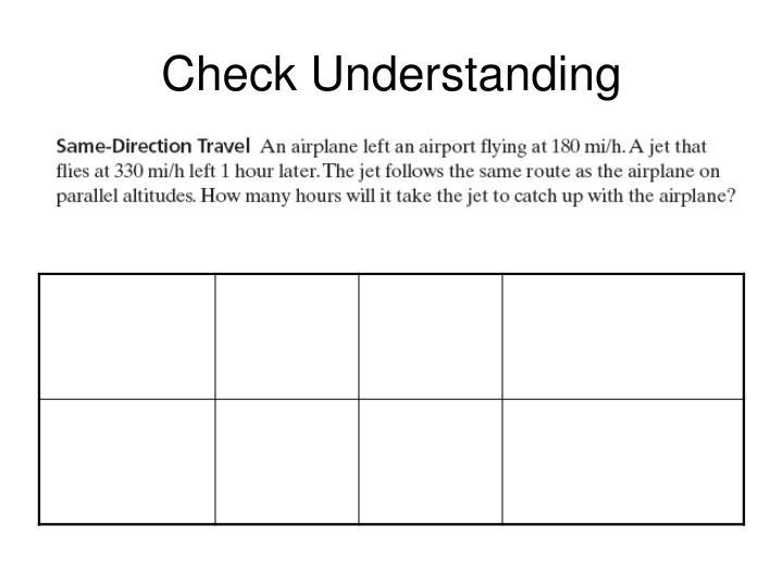 Check Understanding