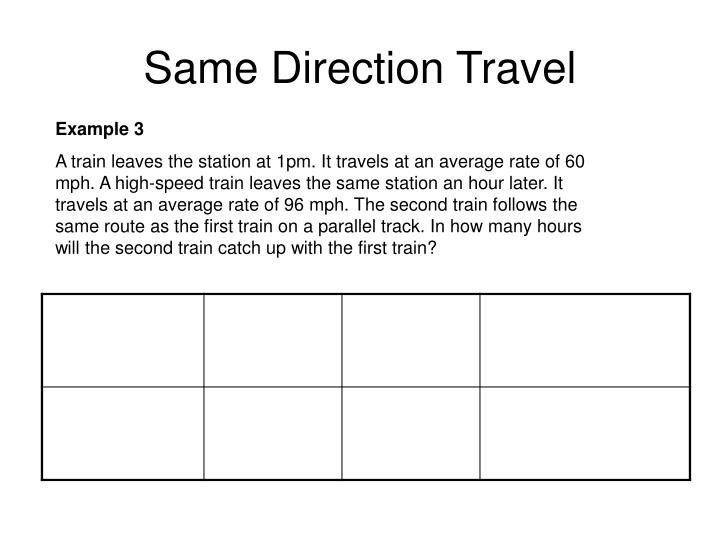 Same Direction Travel
