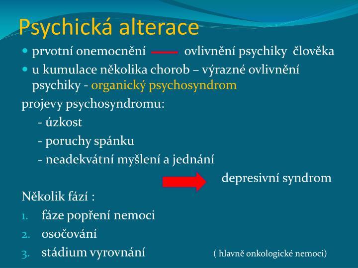 Psychická alterace
