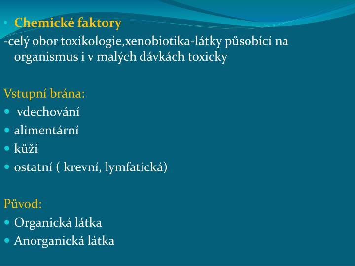 Chemické faktory