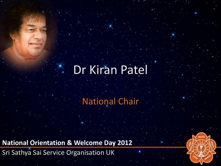 Dr Kiran Patel