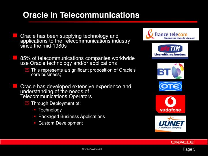 Oracle in Telecommunications
