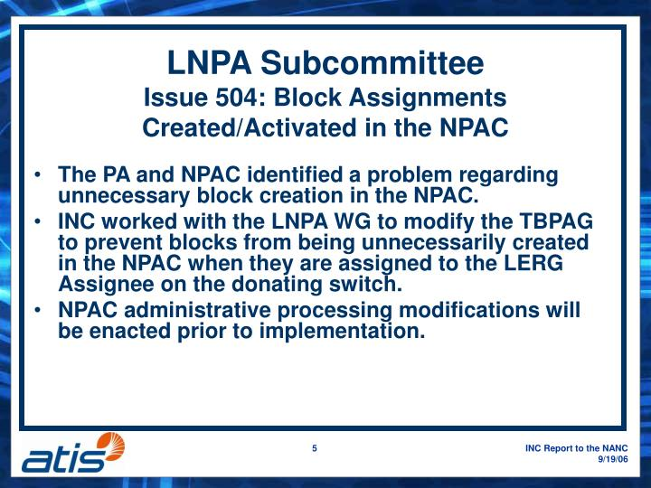 LNPA Subcommittee