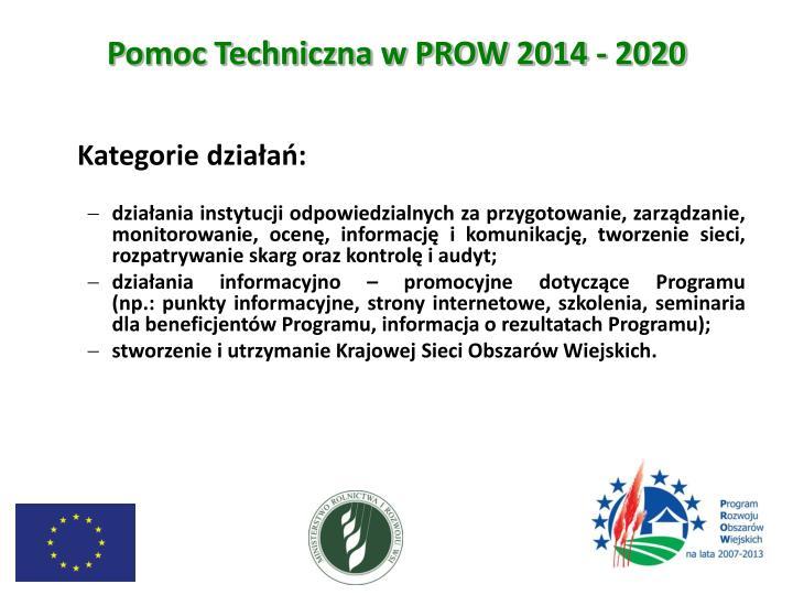Pomoc Techniczna w PROW 2014 - 2020