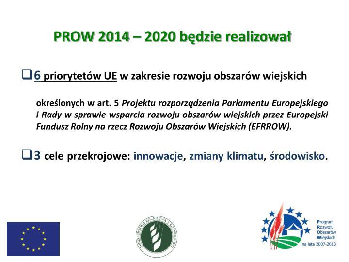 PROW 2014 – 2020 będzie