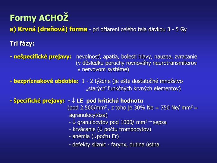 Formy ACHOŽ