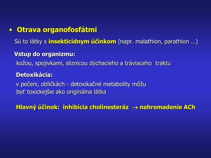 Otrava organofosfátmi